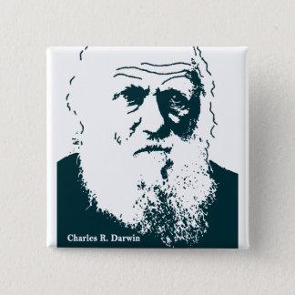 Bóton Quadrado 5.08cm Imagem de Darwin. Botão