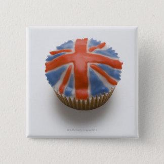 Bóton Quadrado 5.08cm Inglaterra, Grâ Bretanha, inglês, jaque de união,