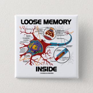 Bóton Quadrado 5.08cm Interior fraco da memória (neurônio/sinapse)