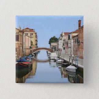 Bóton Quadrado 5.08cm Italia, Veneza. Ideia dos barcos e das casas ao