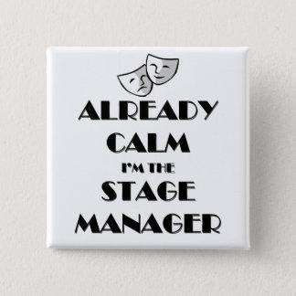Bóton Quadrado 5.08cm Já calma eu sou o gerente de palco