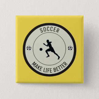 Bóton Quadrado 5.08cm Jogador de futebol