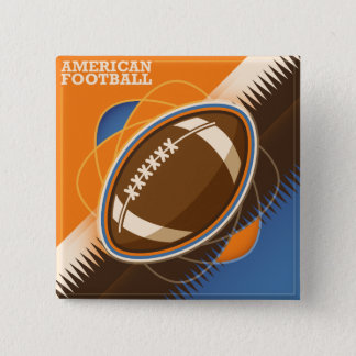 Bóton Quadrado 5.08cm Jogo de bola do esporte do futebol americano