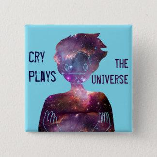 Bóton Quadrado 5.08cm Jogos do grito: O universo