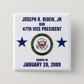 Bóton Quadrado 5.08cm Joseph R. Biden, júnior