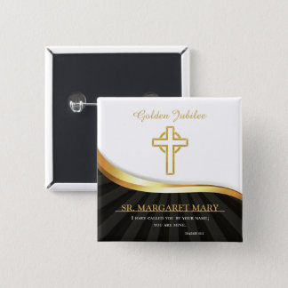 Bóton Quadrado 5.08cm Jubileu dourado da vida religiosa, 50 anos
