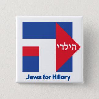Bóton Quadrado 5.08cm JUDEUS HEBREUS para o pino 2016 do presidente de