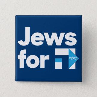 Bóton Quadrado 5.08cm Judeus para o botão de Hillary