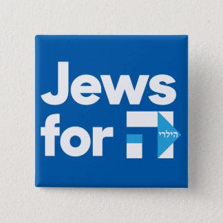 Bóton Quadrado 5.08cm Judeus para o botão quadrado de Hillary