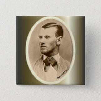Bóton Quadrado 5.08cm Ladrão de banco foragido de Jesse James