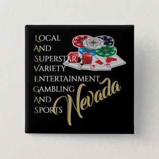 Bóton Quadrado 5.08cm Las Vegas Nevada que joga