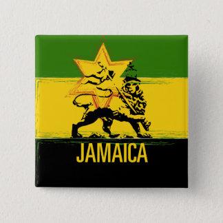 Bóton Quadrado 5.08cm Leão jamaicano do botão de Judah