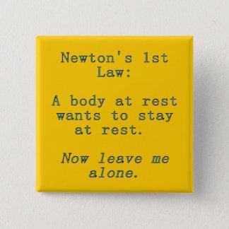 Bóton Quadrado 5.08cm Lei de Newton a ?a
