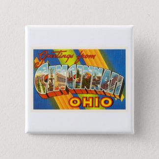 Bóton Quadrado 5.08cm Lembrança velha das viagens vintage de Cincinnati
