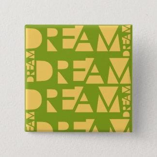 Bóton Quadrado 5.08cm Letras dadas forma geométricas ideais amarelas
