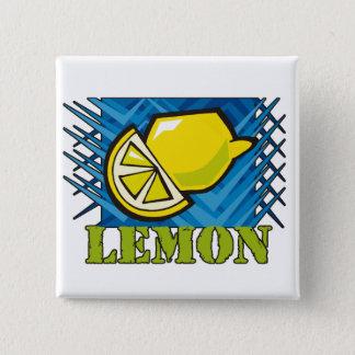 Bóton Quadrado 5.08cm Limão Spiky