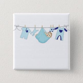 Bóton Quadrado 5.08cm Linha de roupa do bebé