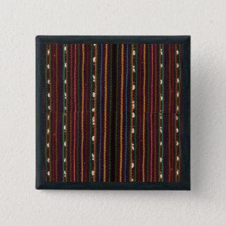 Bóton Quadrado 5.08cm Listras de tecelagem do design do Inca peruano