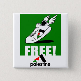 Bóton Quadrado 5.08cm Livre! Palestina