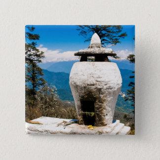 Bóton Quadrado 5.08cm Local budista do culto