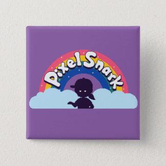 Bóton Quadrado 5.08cm Logotipo de PixelSnark