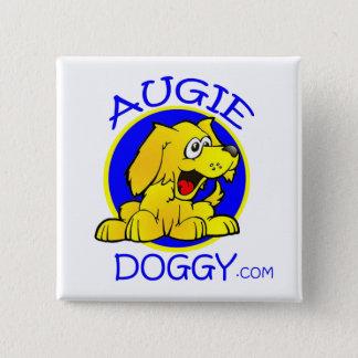 Bóton Quadrado 5.08cm Logotipo dos desenhos animados do Doggy de Augie
