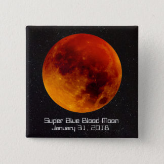 Bóton Quadrado 5.08cm Lua super 2018 do sangue azul