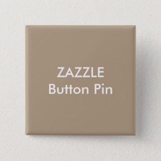 Bóton Quadrado 5.08cm LUZ vazia do Pin do botão quadrado feito sob