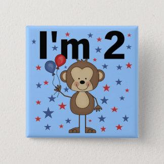 Bóton Quadrado 5.08cm Macaco eu sou 2 camisetas e presentes