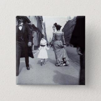 Bóton Quadrado 5.08cm Mãe 1880 + Filha em Boston