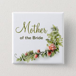 Bóton Quadrado 5.08cm mãe do botão do casamento da noiva