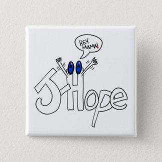 Bóton Quadrado 5.08cm MAMA botão da J-Esperança