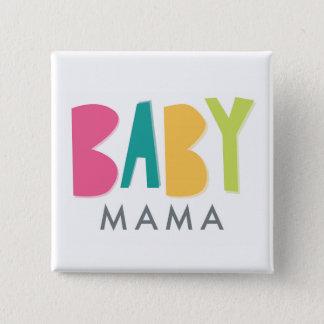 Bóton Quadrado 5.08cm Mama corajoso Botão do bebê