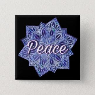 Bóton Quadrado 5.08cm Mandala da paz