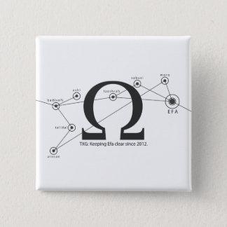Bóton Quadrado 5.08cm Mantenha o botão claro do Efa