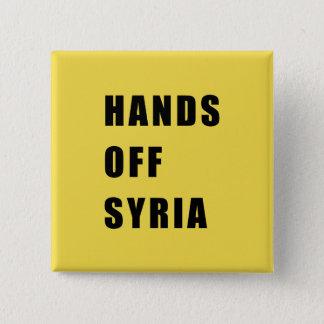 Bóton Quadrado 5.08cm Mãos fora de Syria