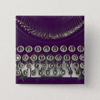 Bóton Quadrado 5.08cm máquina de escrever antiquado