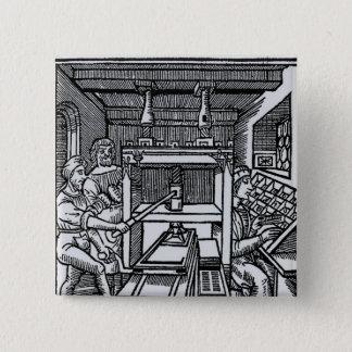 Bóton Quadrado 5.08cm Máquina impressora