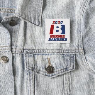 Bóton Quadrado 5.08cm Máquinas de lixar de Bernie para o presidente 2020