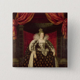 Bóton Quadrado 5.08cm Marie de Medici nas vestes da coroação, c.1610