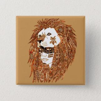 Bóton Quadrado 5.08cm Máscara do leão