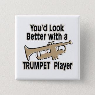 Bóton Quadrado 5.08cm Melhore com um jogador de trombeta