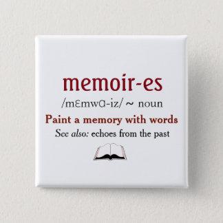 Bóton Quadrado 5.08cm Memórias, memórias - ecos do passado