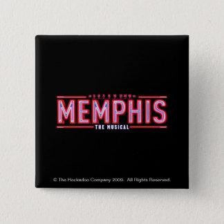 Bóton Quadrado 5.08cm MEMPHIS - o logotipo musical