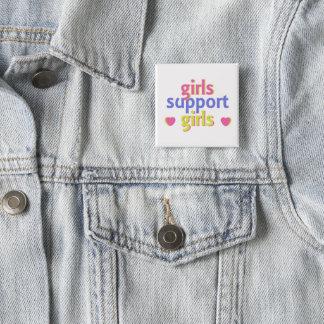 Bóton Quadrado 5.08cm Meninas do apoio das meninas