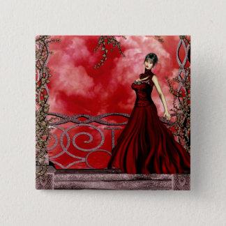 Bóton Quadrado 5.08cm Meninas góticos: Recolhendo o botão da tempestade