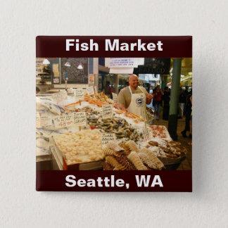 Bóton Quadrado 5.08cm Mercado de peixes Seattle WA