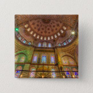 Bóton Quadrado 5.08cm Mesquita azul Istambul