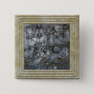 Bóton Quadrado 5.08cm Metal pesado do ferro do Grunge