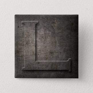 Bóton Quadrado 5.08cm Metal preto de bronze L botão do quadrado do